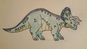 Thanatoceratops  by aerithedrgn