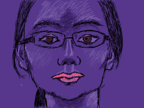 Self-Portrait, Be Purple by MoonlightRomance16