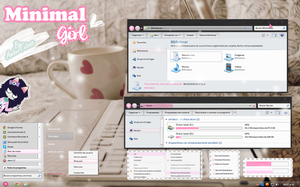 Minimal Girl | Windows 7 theme by Waatt