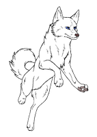 Dog lineart 9 by ArcticHuskie
