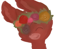 Flower Crown Wip by Cookie-and-her-foxes