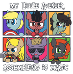 My Little Avenger: Assembling is Magic by ecokitty
