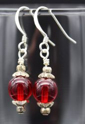 Earrings: Simply Red by LissaMonster