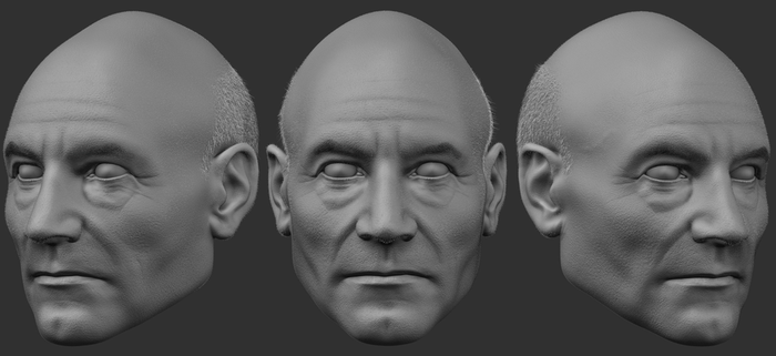 Patrick Stewart Likeness Progress by popcornbag