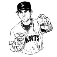 Inktober: Barry Zito by taneel