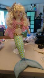hand made mermaid doll by RollerBoyjeremy