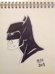 Batman side view sketch by robertamaya