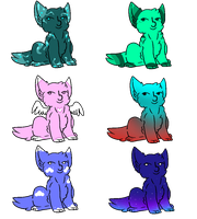 5 Point Lenny Cat Adopts (OPEN 2/6) by Thesheephead7