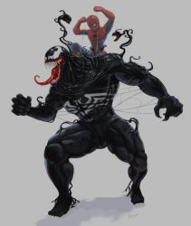Venom vs spider-man by wingwingwingwing