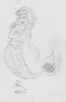 Mermaid Sketch by NinjaObsessed