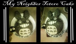 Totoro Cake by Fred-Weasley