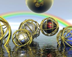 Caged Spheres... by fractalyst