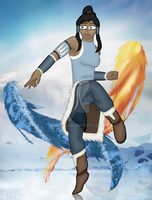 Art Trade: Korra by hippo2