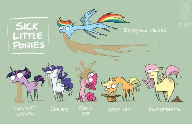 Sick Little Ponies by jollyjack