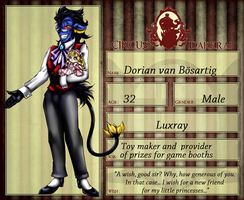 Circus Darkrai: Dorian - Toy maker and seller by HalloweenPanda