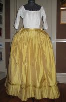 18th cent. Silk Petticoat by Verdaera