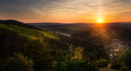 Sunset over the hills II by MoonKey19