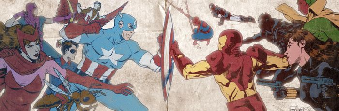 Civil War banner for Blastoff Comics by elena-casagrande