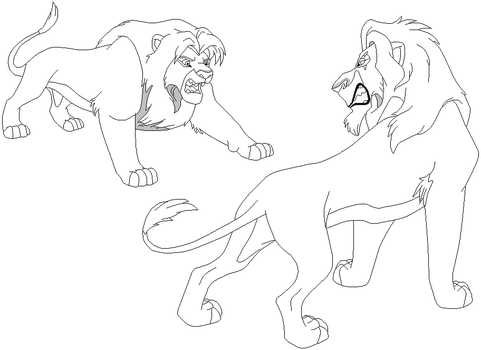 Lion king scar and kovu wiring source for Lion king scar coloring pages