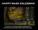 Happy Mask Salesman Demotivational by MountainEyes-Ext
