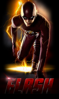 THE FLASH (CLASSIC SUIT) - POSTER I by MrSteiners