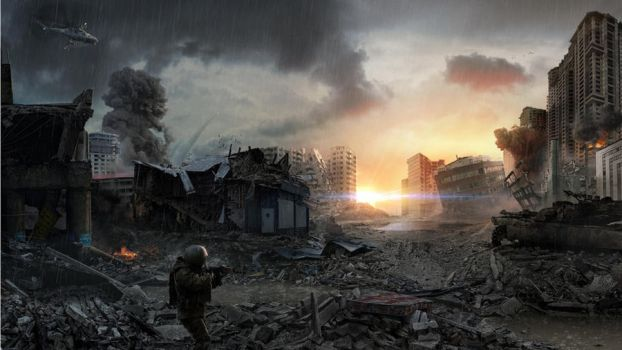 War in the city by materialboyz