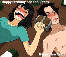 [OP Oc] Happy B Day Ace and Runny! by Missmangafreaky