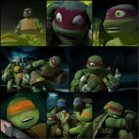 TMNT:: Mikey and Raph (Raph's leadership) by Culinary-Alchemist
