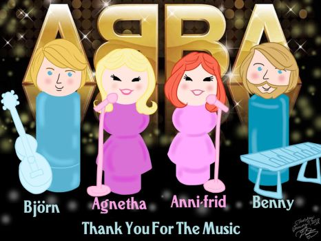 ABBA as Fisher Price Little People by E-Ocasio