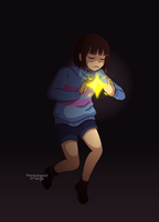 *frisk is filled with determination. by Stereotyped-Orange