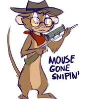 snipin mouse by JuKii