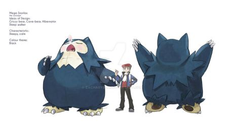 Mega Snorlax by zacharybla