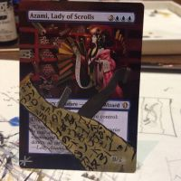 Azami, Lady of Scrolls - Border Extension by Hurley-Burley-Alters