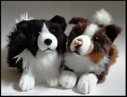 SOLD - Border Collies ~ Small floppy by CyanFox3