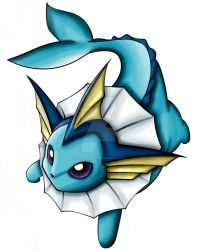 vaporeon by blackgengar