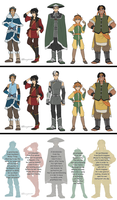 Voltron x Avatar character settings by Buryooooo