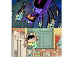 Leni Loud scared of Blackarchnia (Spider Form) by magmon47