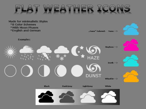 Flat Weather Icons by LavAna