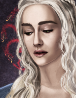 Khaleesi, Mother of Dragons by LivingAliveCreator