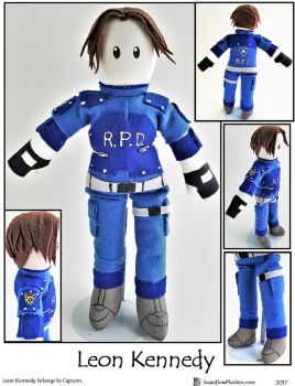 Leon Kennedy Plushie by SoandSewPlushies