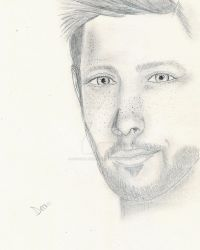 Jensen Ackles as Dean Winchester by Dragonflyfiredoll