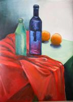 still life oil painting on canvas by gosia-jasklowska