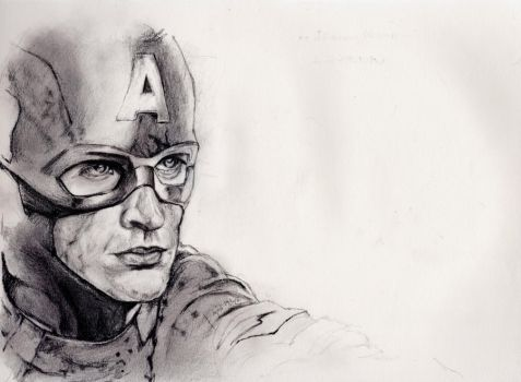 Steve Rogers - Captain America Sketch by ray-agustin