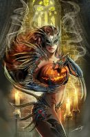 witchblade haloween variant by nebezial