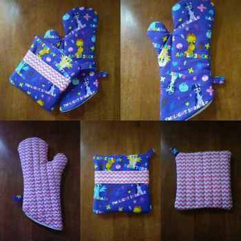 MLP Oven Mitt and Hot Pad Set, Pink by MechanicalApple