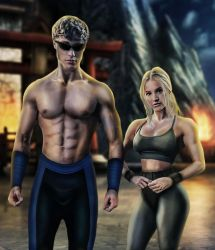 Mortal Kombat Johnny Cage and Sonya Blade by ricktimusprime0825
