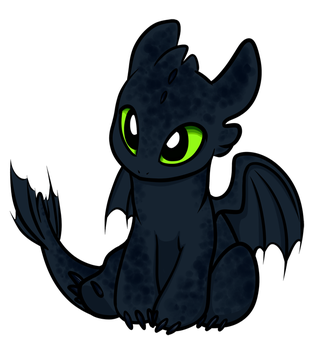 Chibi Nightfury by gryphonworks