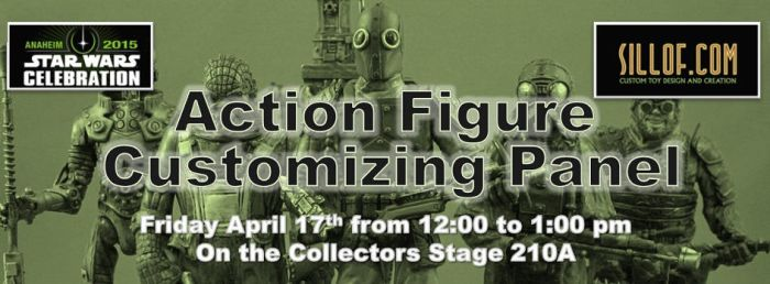 Star Wars Celebration -Custom Action Figure Panel by sillof