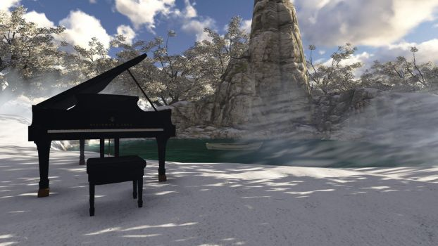 piano 3D by DemiPsycho