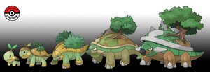 387 - 389 Turtwig Line by InProgressPokemon